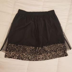 Mossimo Sequin Skirt w/Tulle Overlay